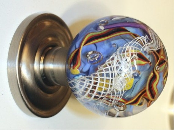 Glass interior door knobs