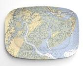 Savannah Nautical Chart Melamine Platter - 1 platter