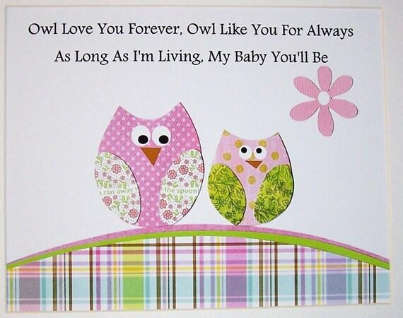 art decor baby girl room decor kids wall art verse owls pink owl