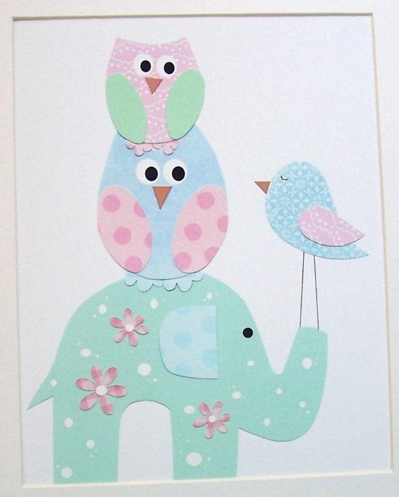 Items Similar To Kids Wall Art Baby Girl Room Decor Art
