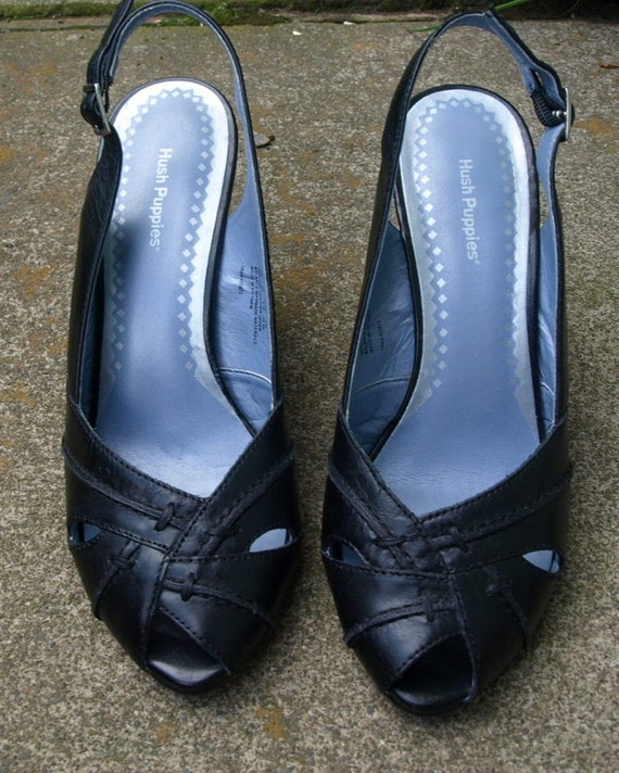 Womens Size 9 Hush Puppies Navy Blue Dress Sandals By Kidcurry