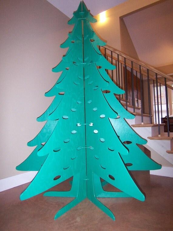 Items similar to eco friendly plywood christmas tree on etsy for Plywood christmas tree