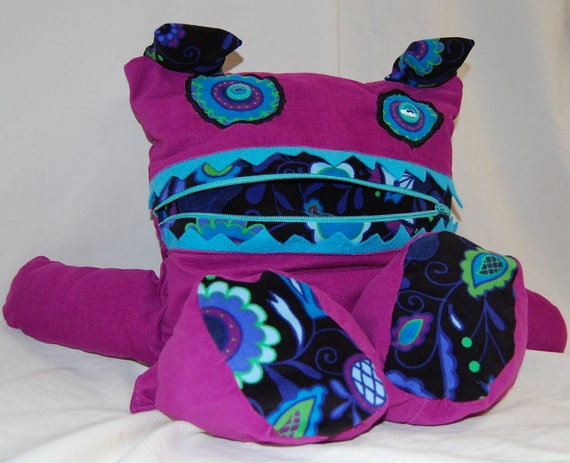 Pajama Holder Bag Eater Purple