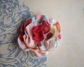 Fabric Flower Clip - Summer