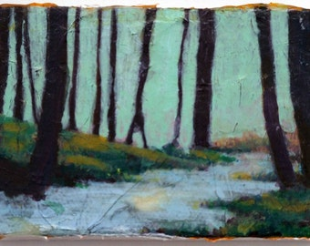 At The Gap, Original Acrylic Landscape Painting