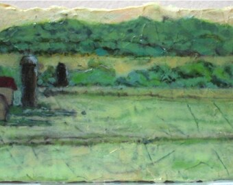 Early Morning On The Farm - Original Landscape Painting
