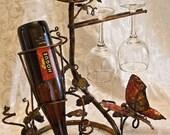 Copper Butterfly Wine Rack