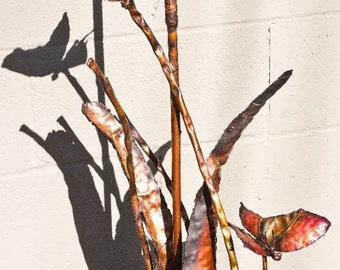 Copper Cattail and Butterflies
