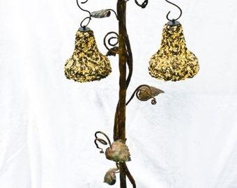 Copper Trellis Bell Bird Feeder