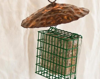 Copper Hanging Suet Feeder