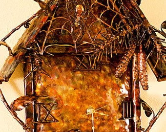 Copper Black Forest Clock