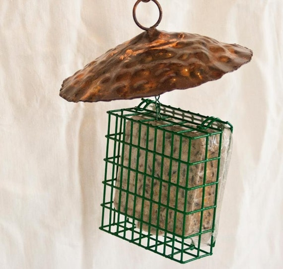 Copper Hanging Suet Feeder