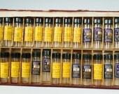 Vintage Miniature Bottles - 34 Bottle Set In Divided Box