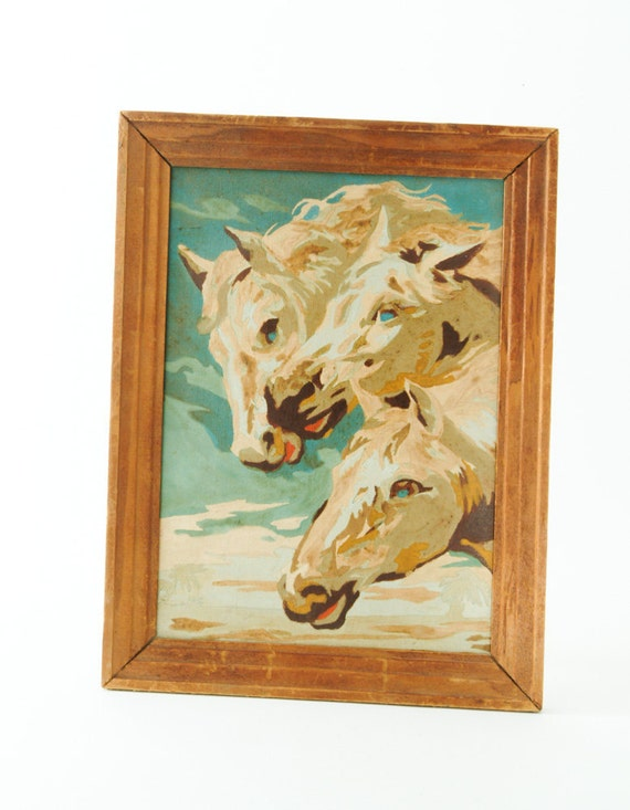 Vintage Horses Paint By Number Painting