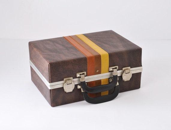 1970's Vintage Faux Leather Case - Cassette Audio Tape Case