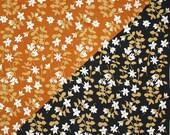 All silk Vera ladybug scarf in caramel and black. Floral, meadow, white, tan, sweet, silk, silk blend.