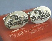 Antique Automobile Cufflinks...Model T or Model A Ford Auto....American Car Vehicle from Early 1900s