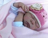 Crochet Hat Pattern - Open Stitch Newborn Baby Cap Crochet Pattern No.112 SEVEN Sizes Emailed2U