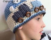 The Original Train Hat Crochet Pattern in Baby, Toddler and Kids Sizes No.109 Digital Download