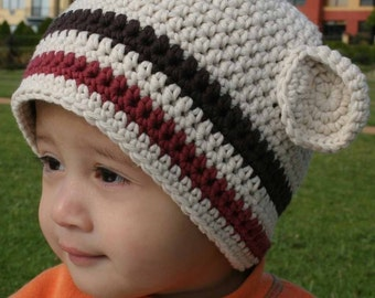 Hat Crochet Pattern - Boys Easy Peasy Chunky Beanie Crochet Pattern No.102 SEVEN SIZES suits BEGINNERS Baby Toddler