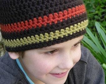 Crochet Hat Pattern - Boys Easy Peasy Chunky Beanie Crochet Pattern No.102 Beginners Adult Mens Teen Kid Sizes