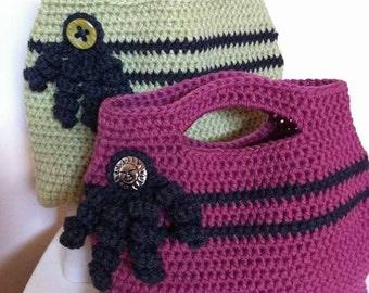 Bag Crochet Pattern - Easy Peasy Tote Crochet Bag Pattern No.506 Digital Download PDF