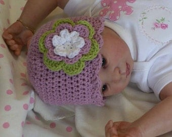 Baby Crochet Hat Pattern - Easy Peasy Shell Trim Baby Hat Crochet Pattern No.103 EIGHT Sizes