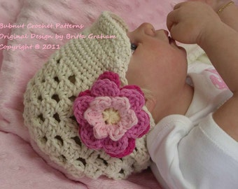 Crochet Hat Pattern - Open Stitch Newsboy Cap Crochet Pattern No.301 Baby Toddler and Kid Sizes