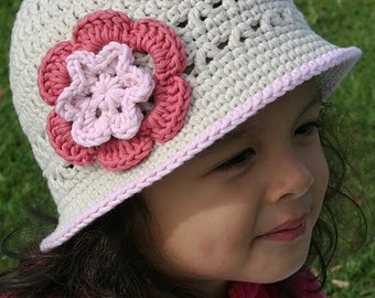Crochet Summer Hat Pattern  -  No.106