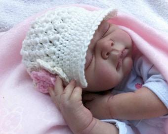 Crochet Hat Pattern - Newsboy Hat Crochet Pattern No.206 Newborn, Baby and Toddler Sizes