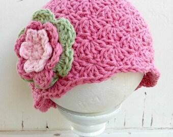 Crochet Hat Pattern - Shell Stitch Cap Crochet Pattern No.113 Digital Download PDF