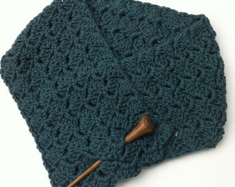 Scarf Crochet Pattern - Tulip Stitch Short Neck Warmer Crochet Pattern No.510 Digital Download PDF