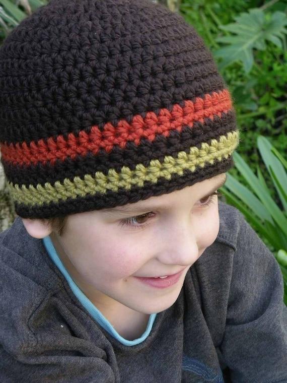 Hat Crochet Pattern Boys Easy Peasy Chunky Beanie Crochet Pattern