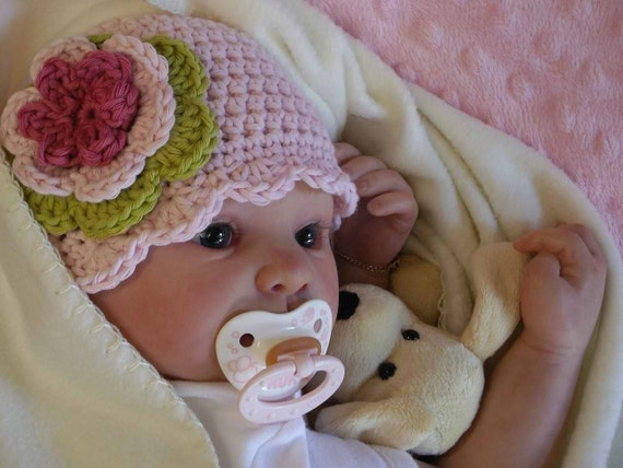 Easy Peasy Shell Trim Baby Hat Crochet Pattern No.103 EIGHT Sizes Emailed2U