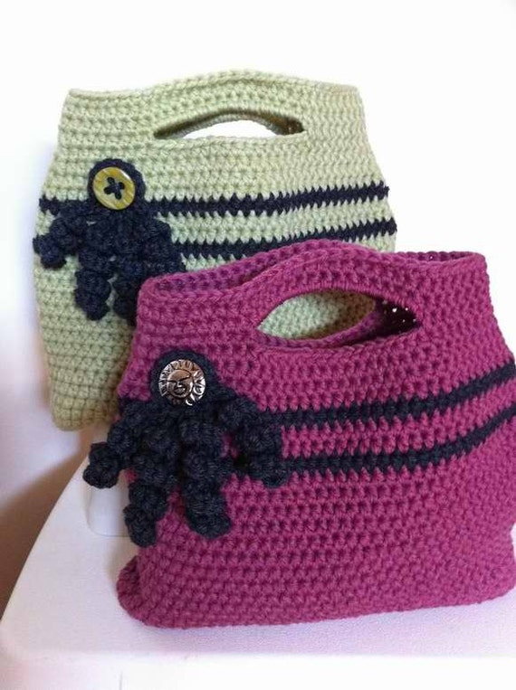 Crochet Easter Bag Pattern : Crochet Handbag Pattern Easy Peasy Tote Bag by bubnutPatterns
