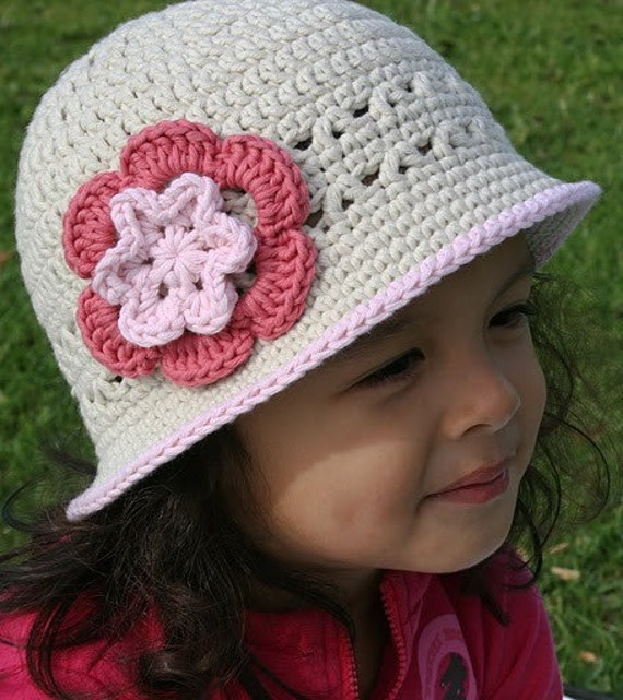 Crochet Hat Pattern Girls Sun Hat Crochet By BubnutPatterns