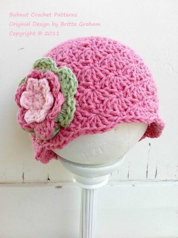 Crochet Hat Pattern - Shell Stitch Cap Crochet Pattern No.113 Emailed2U SEVEN Sizes