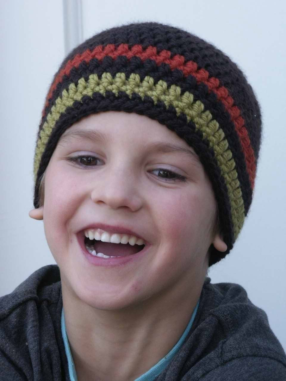 Crochet Hat Pattern Boys Easy Peasy Beanie With Optional