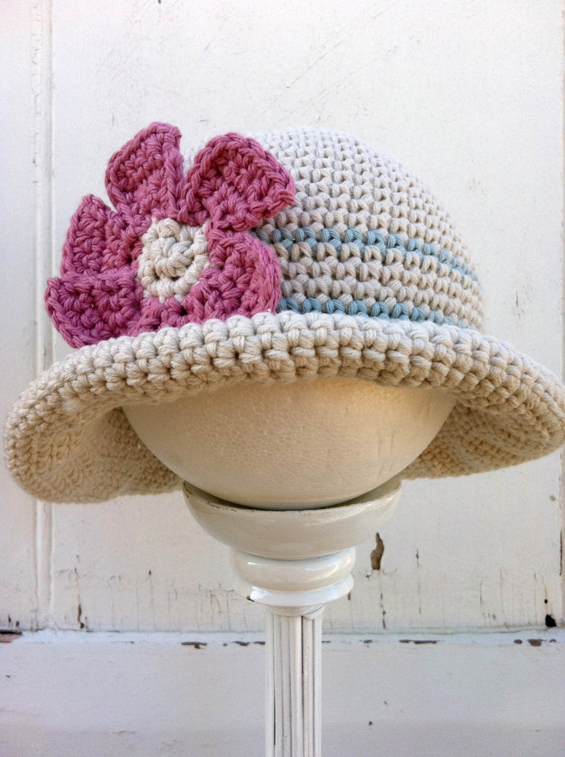Crochet hat pattern rolled brim hat crochet pattern no119 baby this is a digital file bankloansurffo Gallery