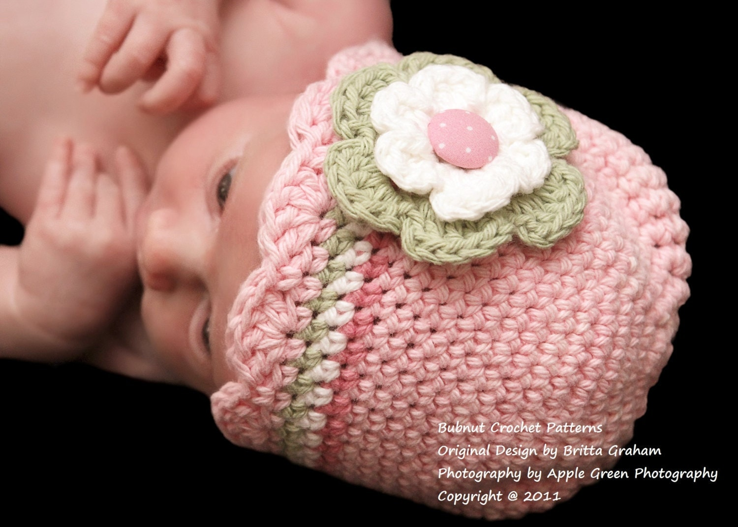 Crochet Patterns Baby Hats : Baby Hat Crochet Pattern with Shell Trim Crochet Hat Pattern by ...