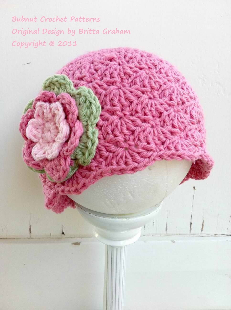 Crochet Stitches Baby Hats : Crochet Hat Pattern Shell Stitch Cap Crochet by bubnutPatterns