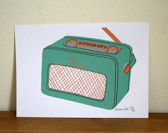 Roberts Radio Limited Edition Screen Print - Art Print - Hand Pulled Print