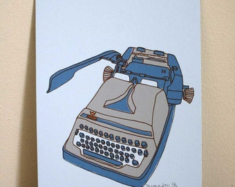 Gabriele Typewriter Screen Print - Limited Edition Print