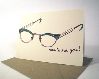 Nice To See You note card