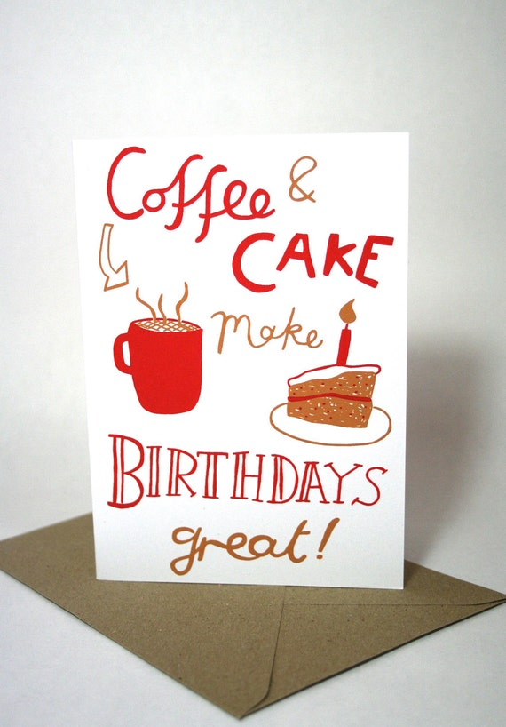 Coffee and Cake Birthday card
