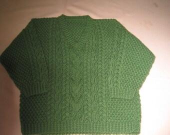 rich green v-neck sweater