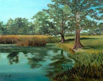 Rebecca Croft Original Oil Painting Sissinghurst Gardens