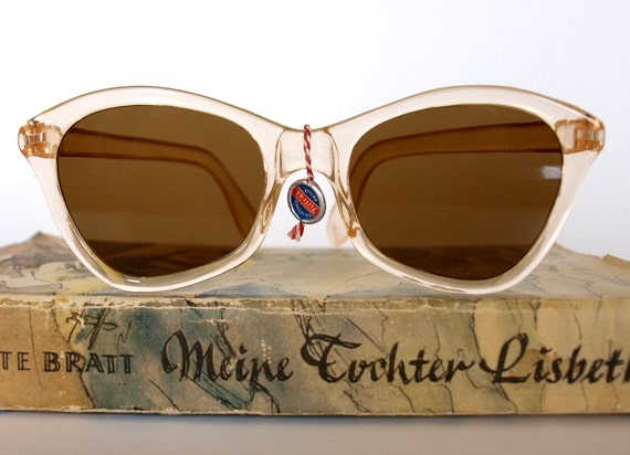 Cool 1940s 1950s Vintage Sunglasses by FILTRAL from Germany - Unisex - New Old Stock