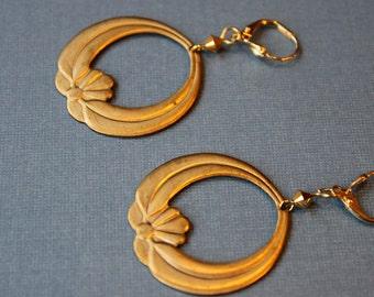 Vintage Brass Hoops