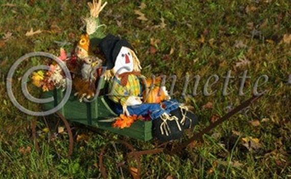Scarecrow Harvest Wagon Photo Magnet